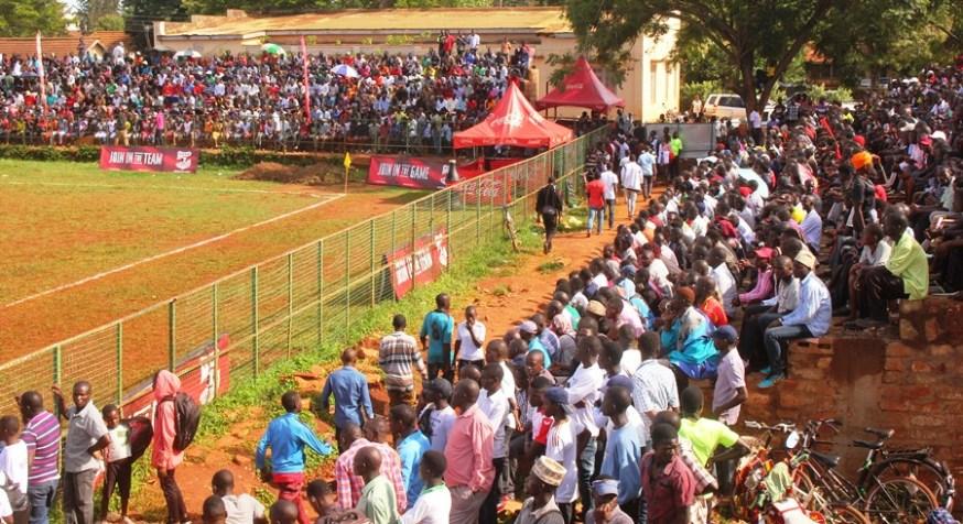 Jinja community wholesomely embraces the enticing copa 2019 football championship #Uganda Fans at Kakindu Stadium