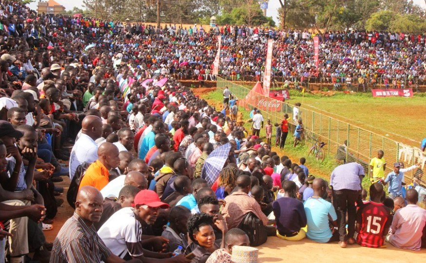 Jinja duo JIPRA, Jinja SS advance to COPA 2019 quarterfinals #Uganda Part of the crowd at the Kakindu Stadium during the 2019 Copa football round of 16 contest between Jinja SS and St Julian High School Gayaza