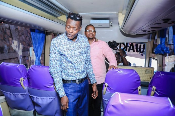What you missed at unveiling of Wakiso Giants New Bus #Uganda inside bus