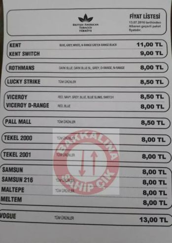 kent sigaras fiyat listesi