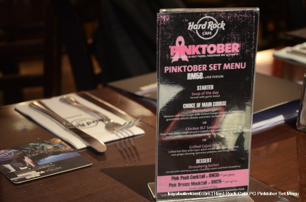 Introducing Hard Rock Hotel Penang Pinktober 2013 Set Menu (4)