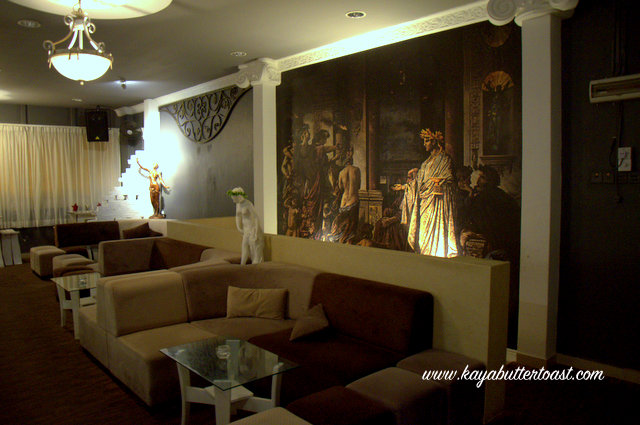 She Also Shows Me The 2nd Floor Where Lounge Is Very Spacious With Opulent Greek Design You Can Have Private Function Or Party On If