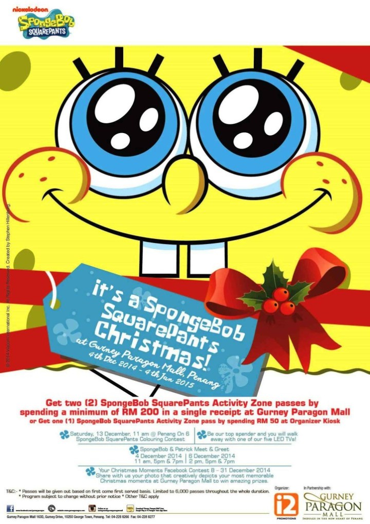 Celebrate Holiday With SpongeBob SquarePants in Gurney Paragon Mall  28