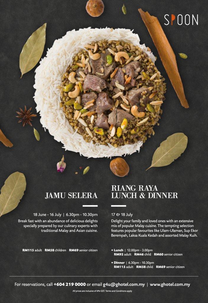 G Hotel Kelawei Spoon Restaurant Ramadhan Buffet Dinner 2015 Promotion Poster