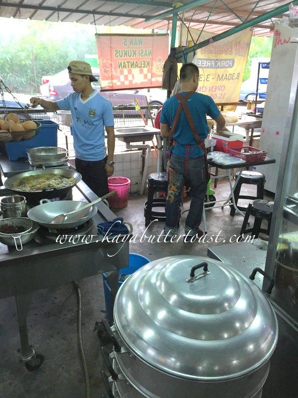 Wan's Nasi Kukus Ayam Berempah Kelantan @ Delima Mas Coffee