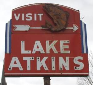 Lake Atkins Arkansas sign