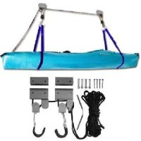 ProSource 125-Pound Heavy Duty Garage Utility Canoe and Kayak Storage Lift