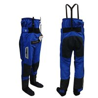 Shakoo blue L/XL/XXL waterproof kayaking drypants with socks