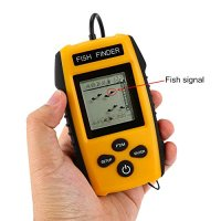 Isafish Deeper Fish Finder Water Depth & Temperature Portable Fishing Depth Finder with Wired Sonar Sensor Transducer and LCD Dispaly