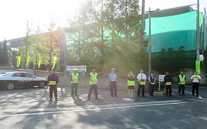 豊川警察署 交通安全運動 シートベルトチェック