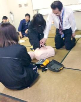 CSR活動 労働安全衛生 AED講習-2