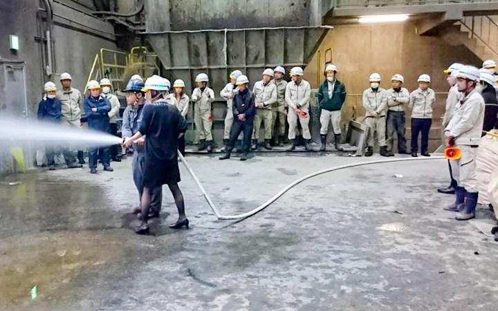 加山興業 豊川リサイクル工場 消防訓練 2018