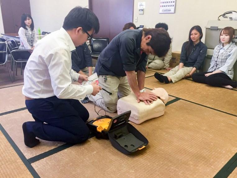 AED救命講習 豊川市 廃棄物処理業 加山興業