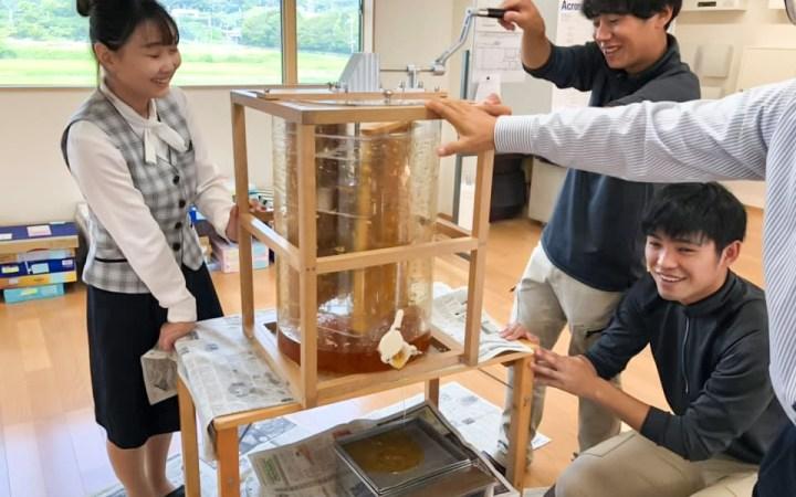 愛知県 豊川市 養蜂 はちみつ 採蜜体験