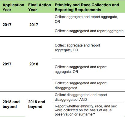 Sex and race on an application