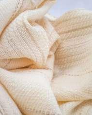 plaid boucle blanche