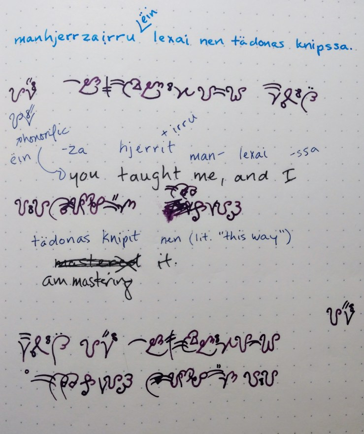 An example of text; note the caption.