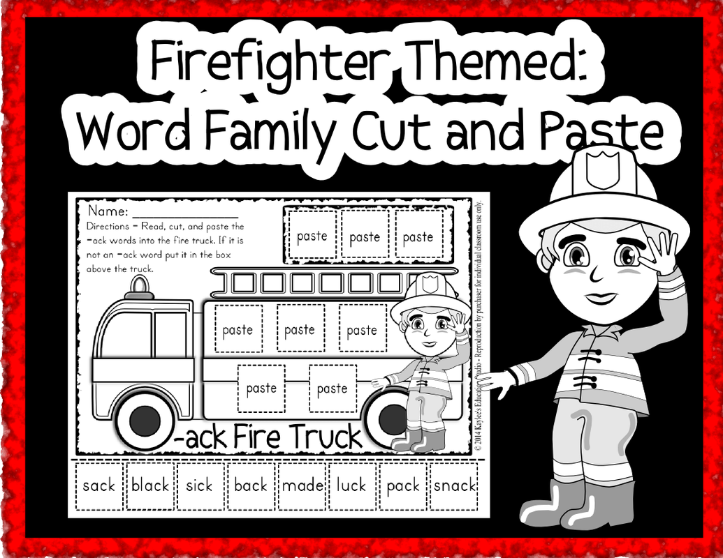 Firefighter Word Families