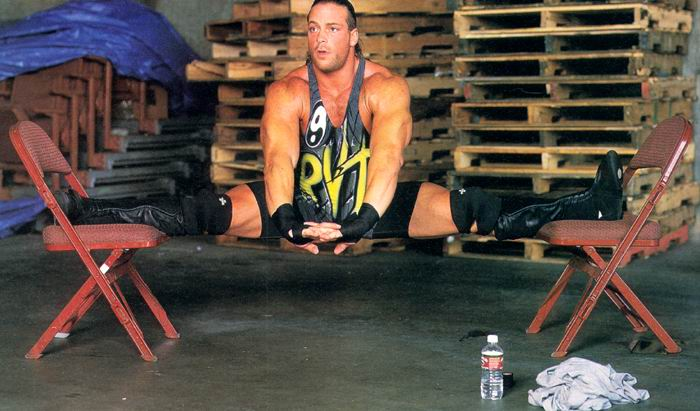 Rob Van Dam outsmarted by his own educated feet