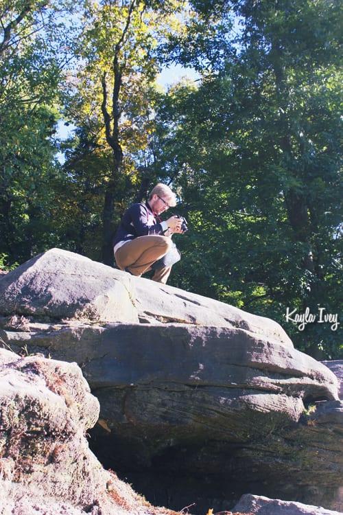 Thomas on a Rock