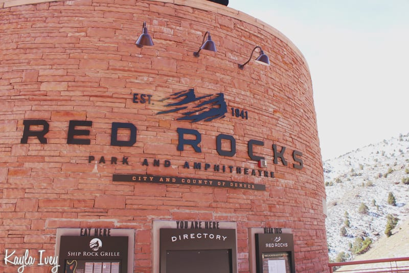 Red Rocks Amphitheater Sign