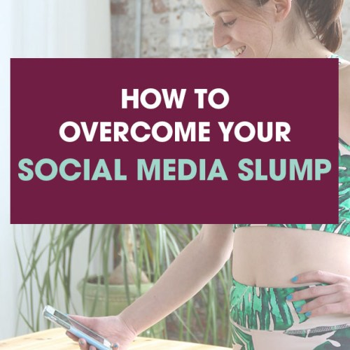 why I'm changing my social media strategy. overcome your social media slump.