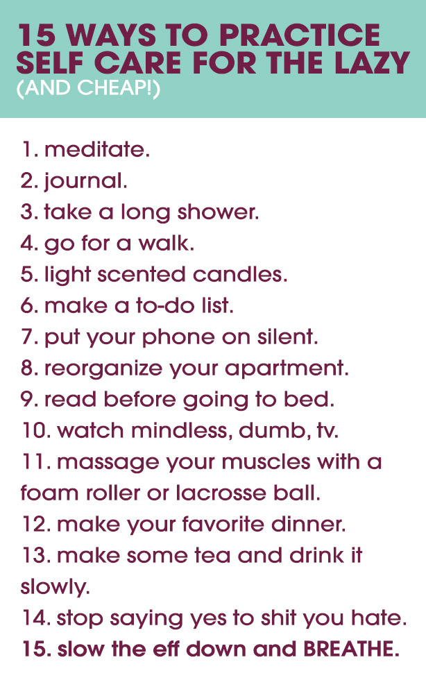 cheap ways to practice self care