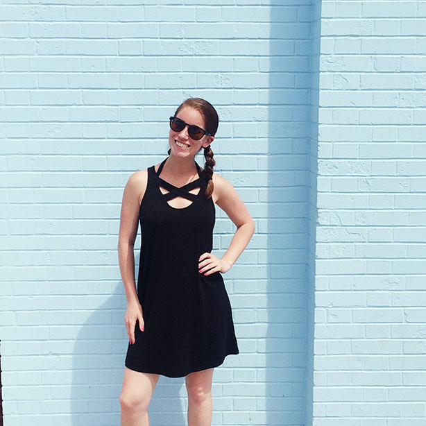 black cover-up dress