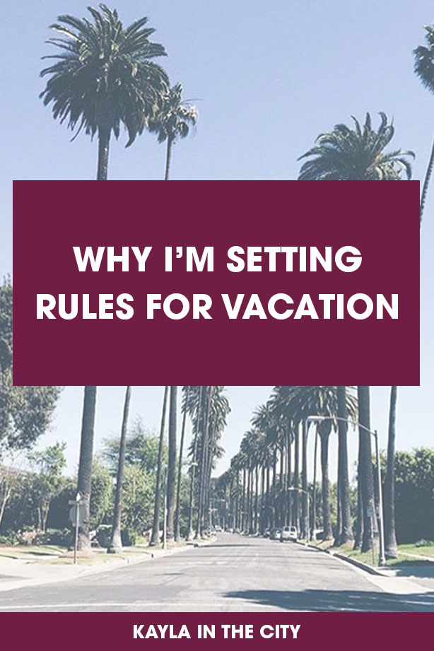why I'm setting rules for vacation: how to disconnect and recharge on vacation
