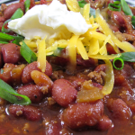 Instant Pot Red Chili, from dry beans