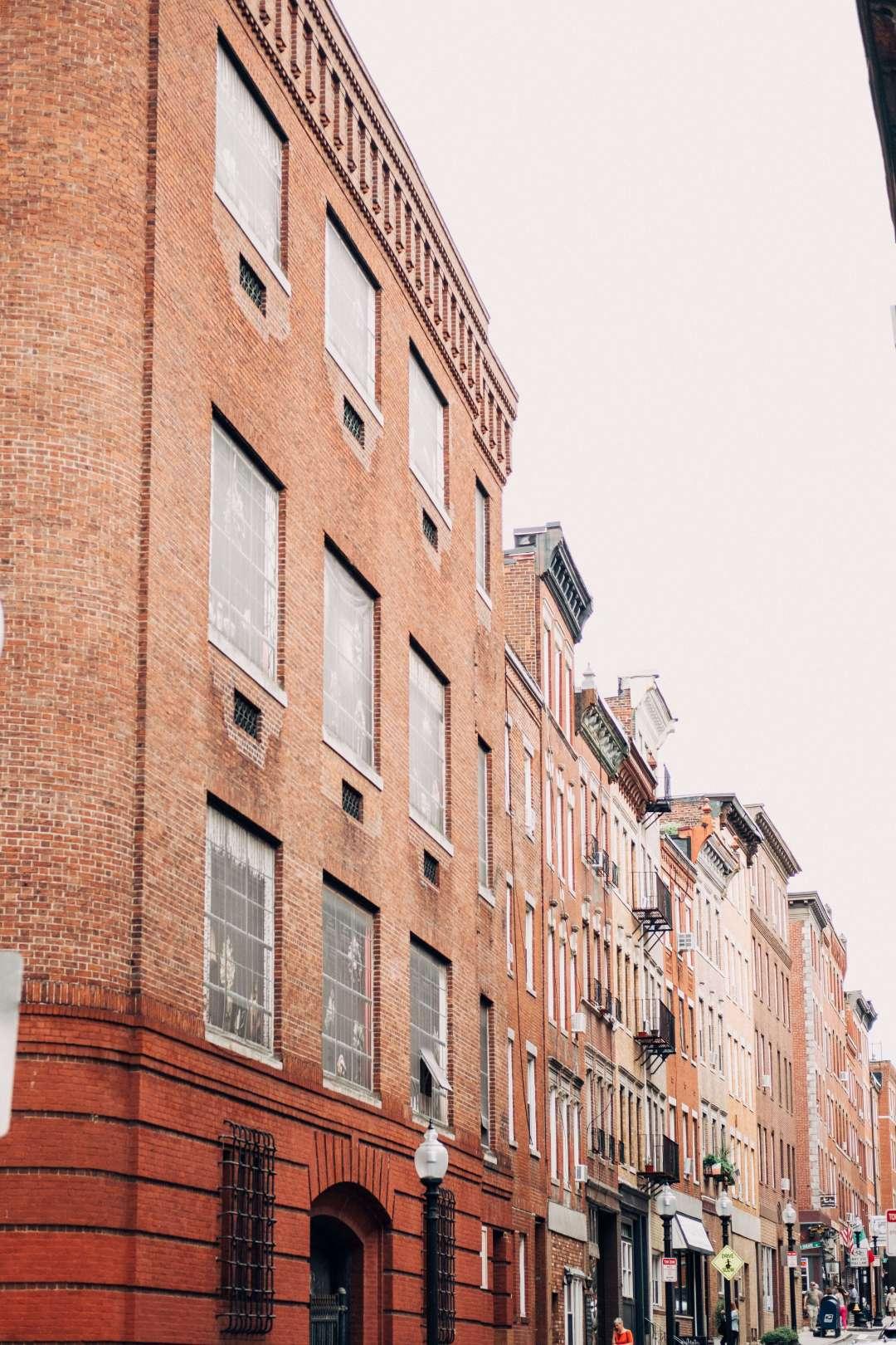 Boston Brick Buildings in a row