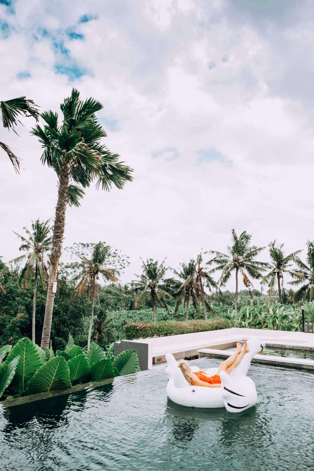 Swan Floatie Bali Infinity Pool