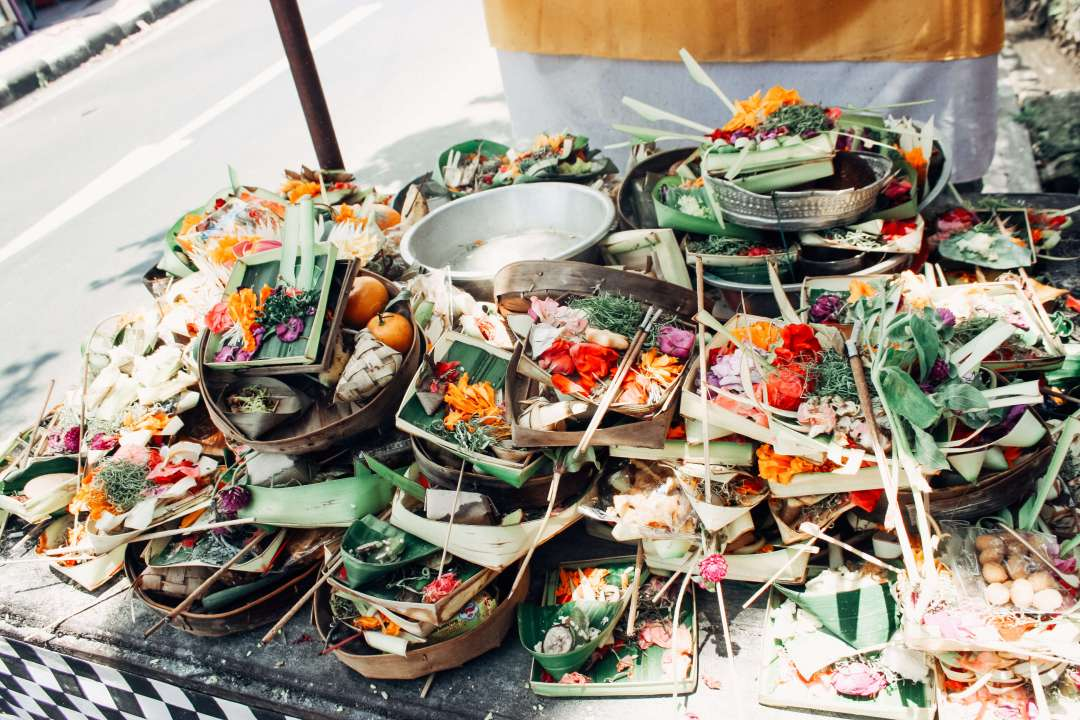 Bali Offerings on street