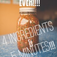 Easiest 4 ingredient Salsa ever! | 5 Minute Salsa