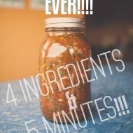 Easiest 4 ingredient Salsa ever! | 5 Minute Salsa