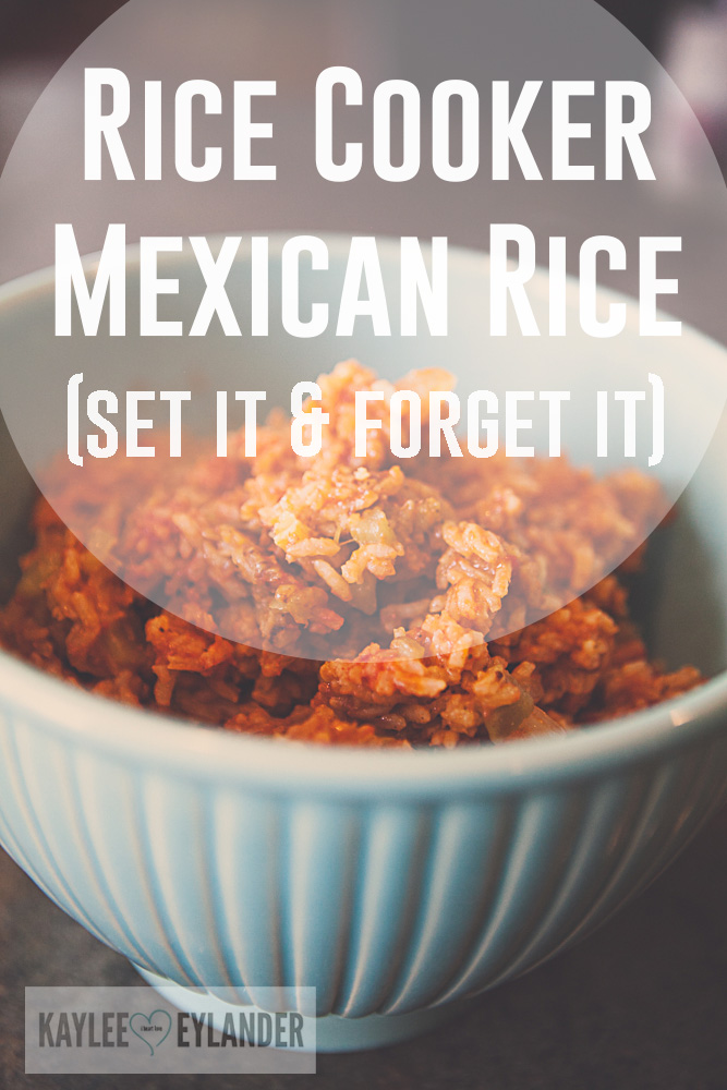 Easy Rice cooker Mexican Rice
