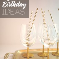 DIY Gold Birthday Party Ideas