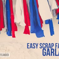 Easy Scrap Fabric Garland | 4th of July Ideas