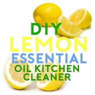 DIY Lemon Essential Oil Kitchen Counter Cleaner