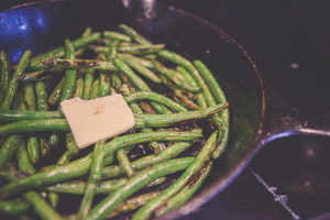 Cast Iron Pan Grilled Green Beans-5