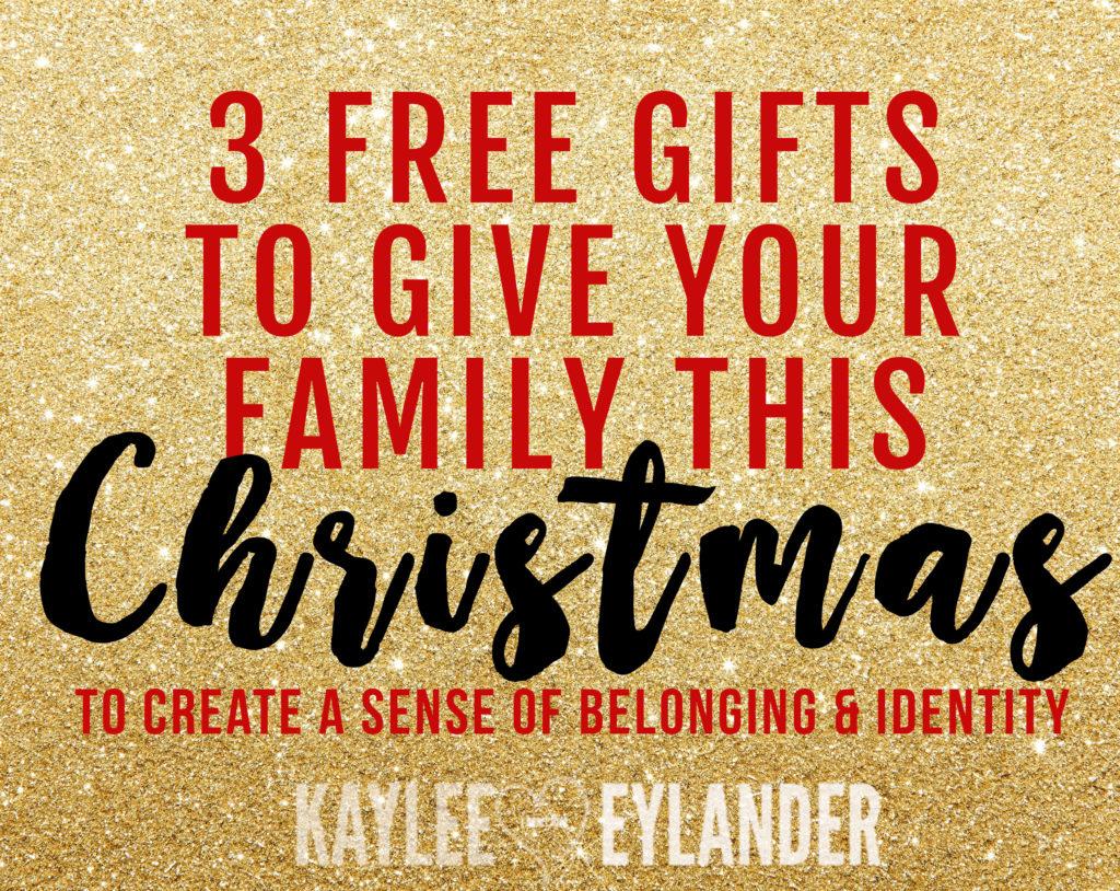 Giving kids 3 gifts for christmas