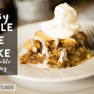 Apple Pie Cake with Crumble Topping Recipe   Easy Fall Desserts