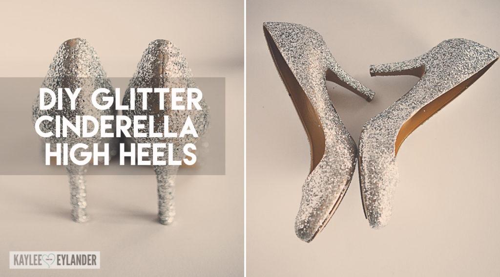 ShoesCinderella Costume High Heel Diy Glitter nwOX8P0k