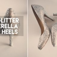DIY Glitter High Heel Shoes | Cinderella Costume