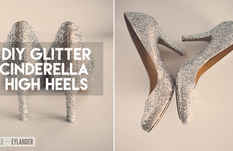 DIY Glitter High Heel Shoes   Cinderella Costume