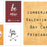 Lumberjack Plaid Valentine's Day Card Printables