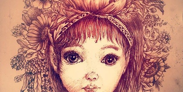 Sweet Petite - Art Nouveau influenced illustration