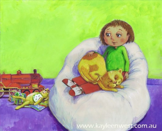 Children's book illustration: Picture book, Without Me? Publisher: Wombat Books
