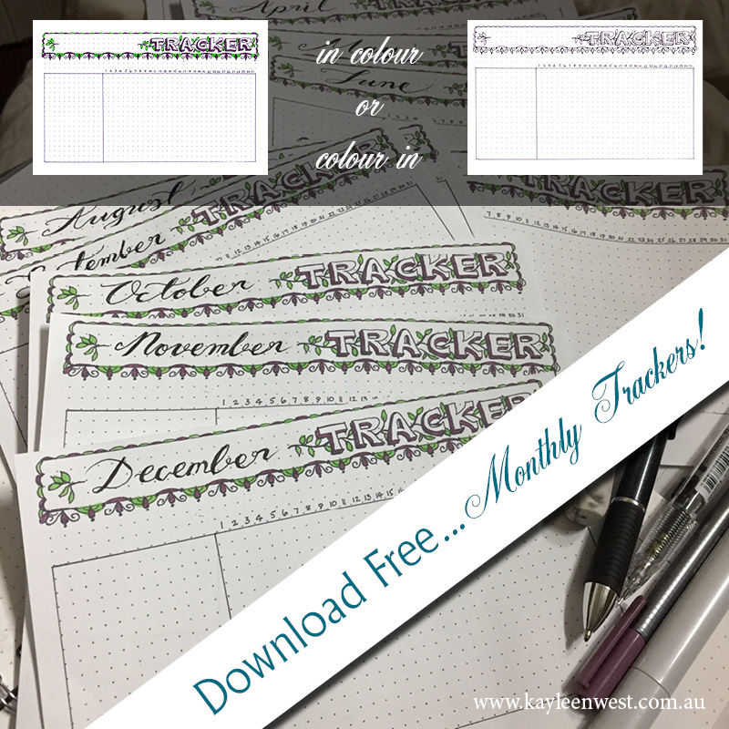 Fun ways to organize with free monthy trackers
