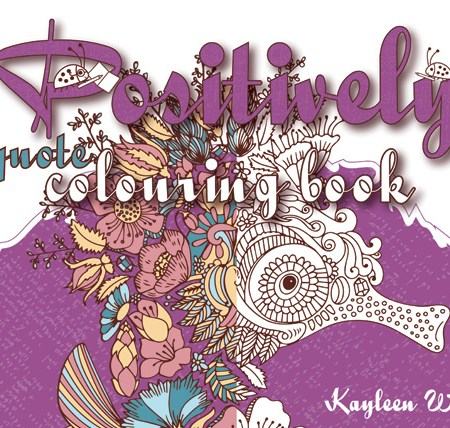 Positively adult colouring book. Coloring books for adults and teens.